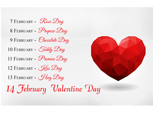 Happy Valentine's Week List